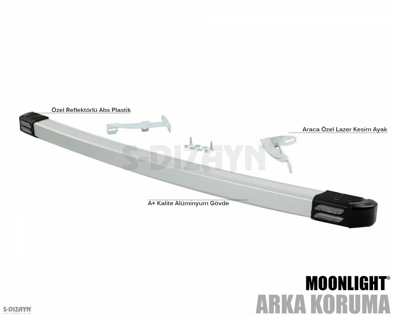 Fiat Doblo Arka Koruma Alu Gri Moonlight 2003 Üzeri