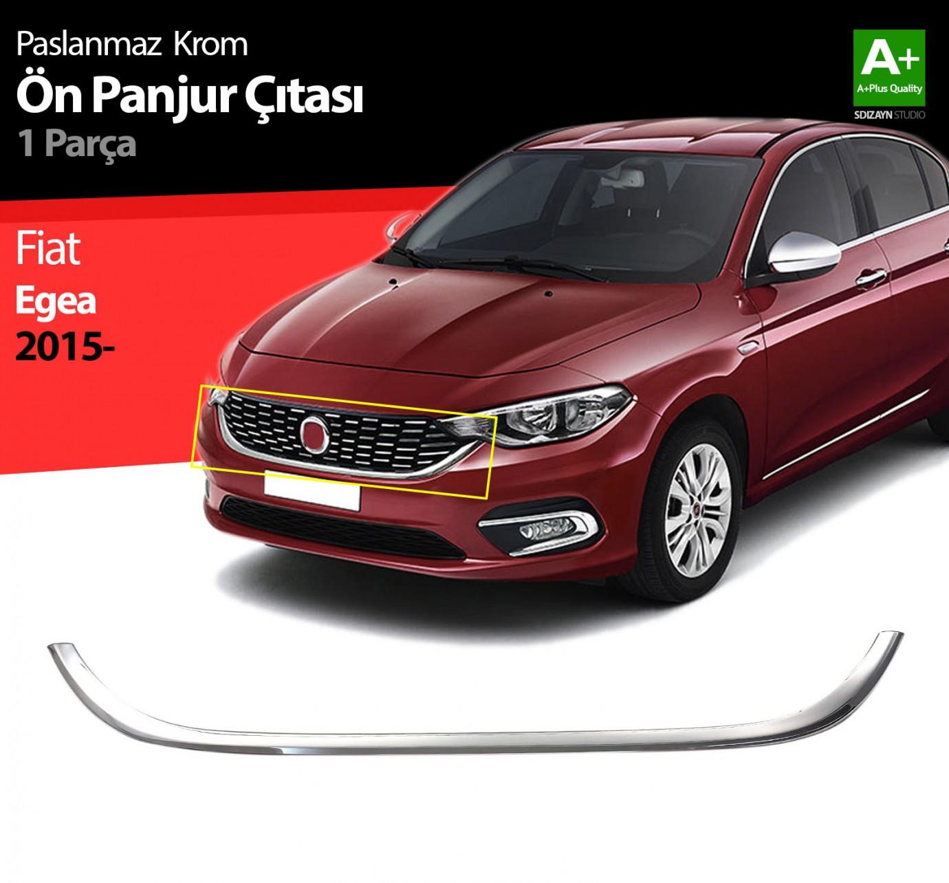 Fiat Egea Krom Ön Panjur Çıtası 2015 Üzeri