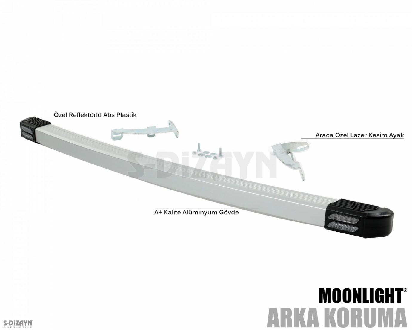 Ford Connect Arka Koruma Alu Gri Moonlight 2003-2014