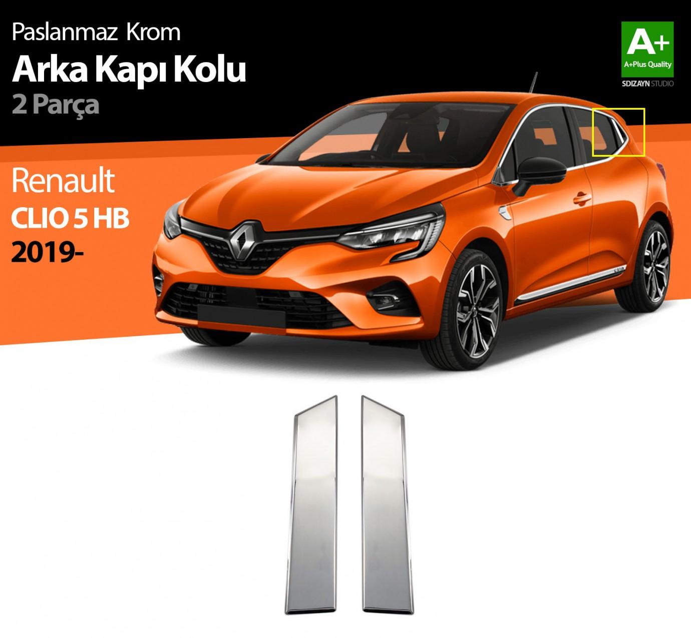 Renault Clio 5 Krom Kapı Kolu Arka 2 Prç. 2019 ve Üzeri