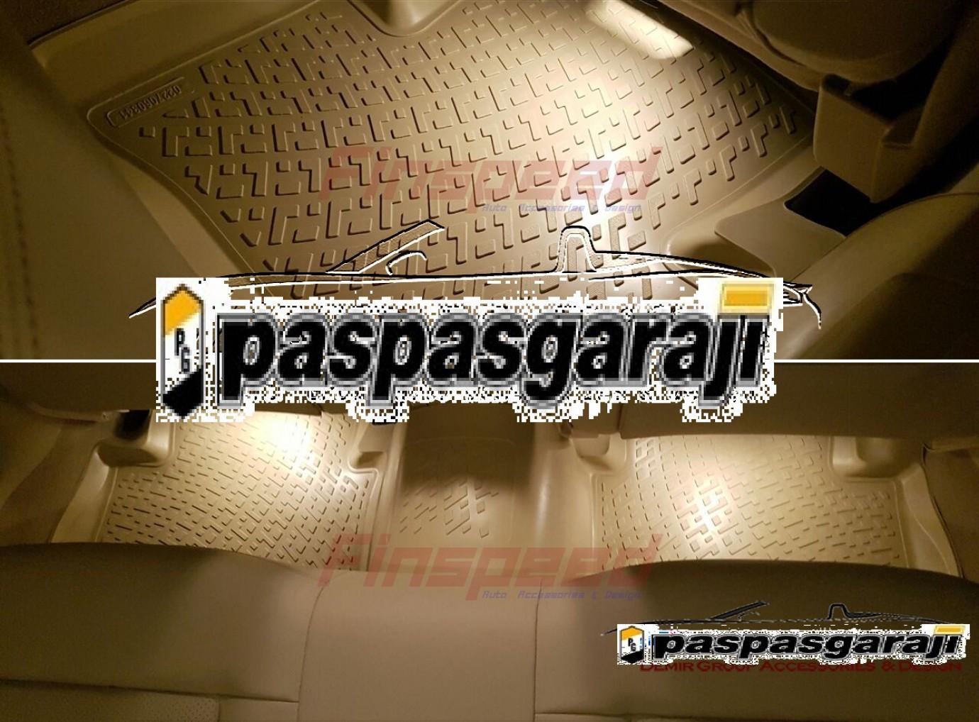Vw Passat B7 Bej 3d Havuzlu Paspas 2011-2015