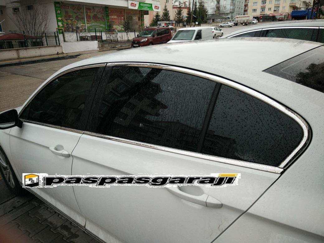 VW Passat B8.5 Krom Cam Çerçeve 8 Parça 2019 ve Üzeri
