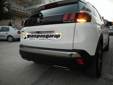 Peugeot 3008 Krom Egzoz Çıkışı 2 Prç. 2016 Üzeri