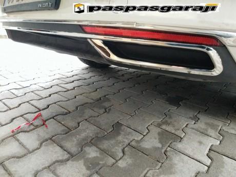 Vw Passat B8.5 Krom Egzoz Görünümü 3 Parça 2019-