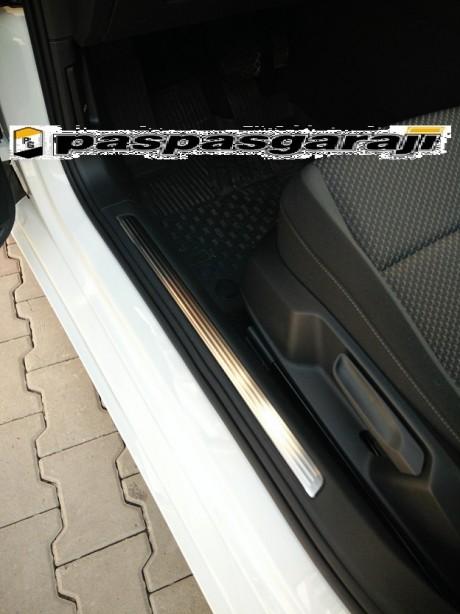 Vw Yeni Passat B8.5 Krom İç Kapı Eşiği 4 Parça 2019 Üzeri